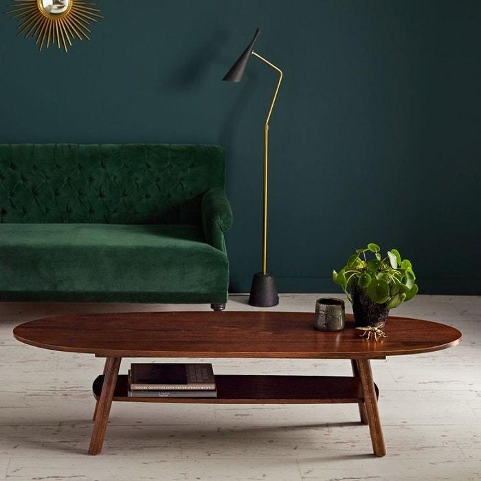 table basse en bois finition noyer double plateau noyer. Black Bedroom Furniture Sets. Home Design Ideas