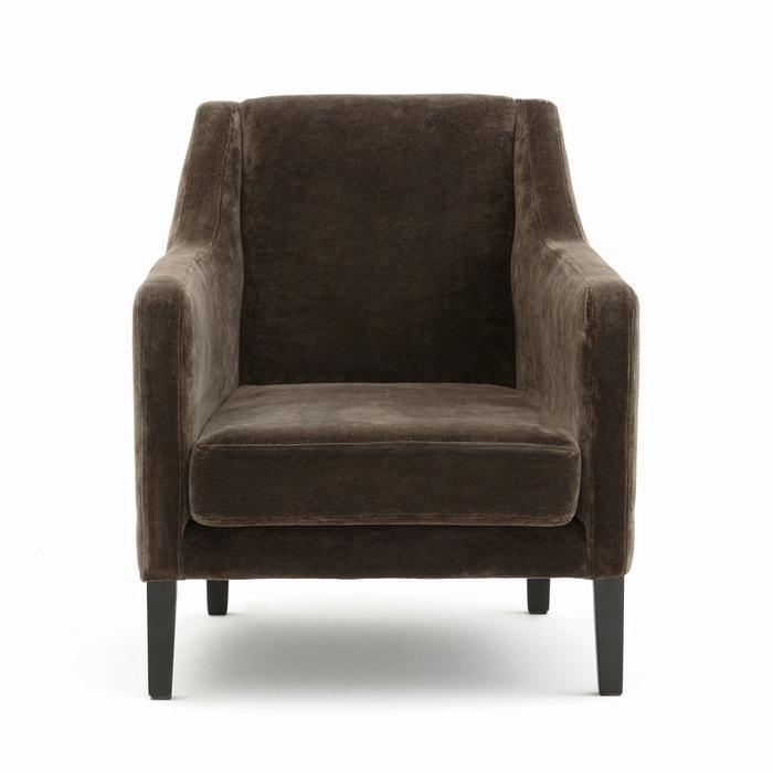 fauteuil stacy am pm marron la redoute. Black Bedroom Furniture Sets. Home Design Ideas