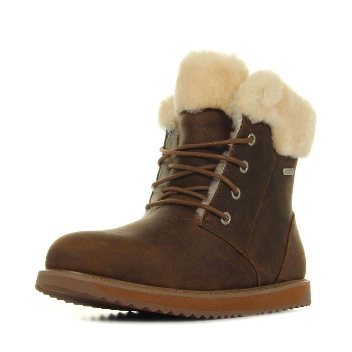EMU Shoreline Leather Lo Oak marron - Livraison Gratuite avec  - Chaussures Boot Femme