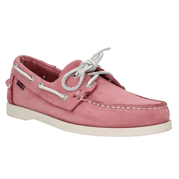 Sebago Docksides nubuck Homme Rose Rose - Chaussures Chaussures bateau Homme
