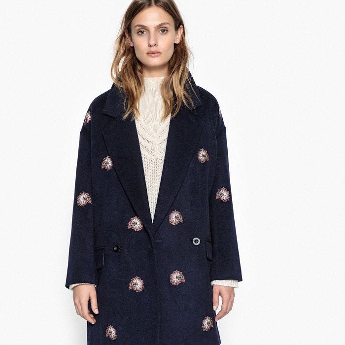 Manteau mi-long brodé en laine mélangée  LA REDOUTE COLLECTIONS image 0