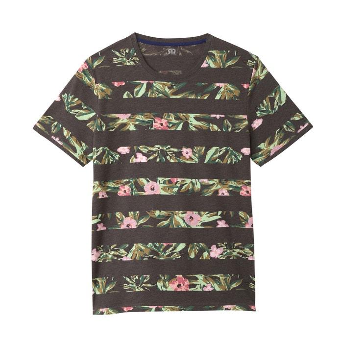 redondo La Camiseta a Redoute cuello Collections rayas yHUOBWHS