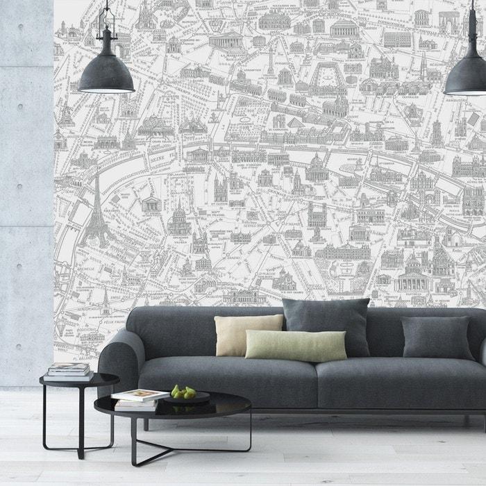 Papier Peint Decor Panoramique Plan De Paris Monumental Maison