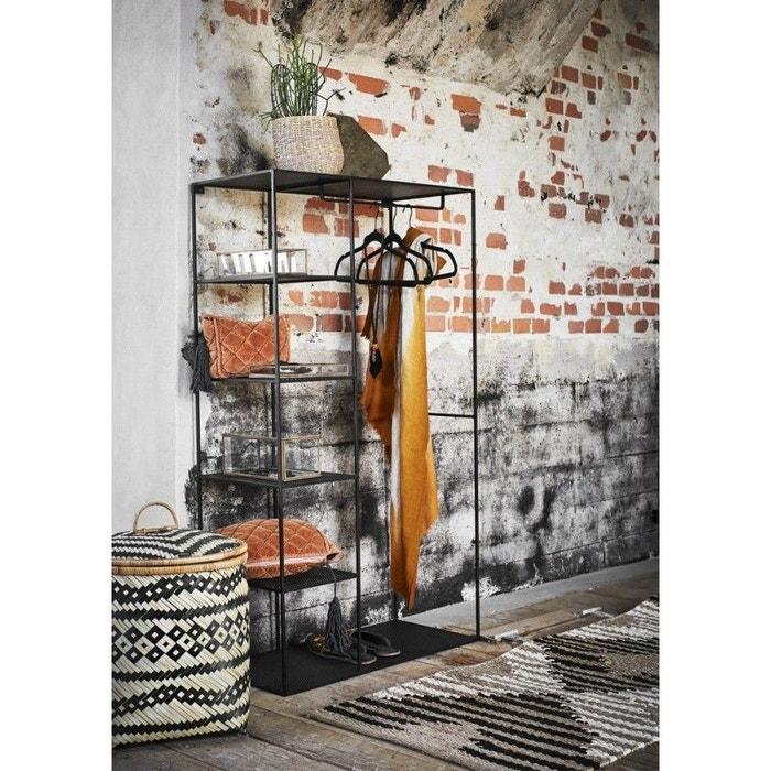 Penderie design métal 5 étagères wardrobe noir Madam Stoltz | La Redoute