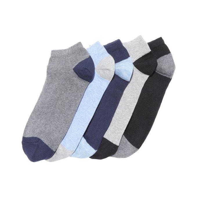 b183d1e37f9ff Lot de 5 paires de socquettes bleu + noir + gris La Redoute Collections |  La Redoute