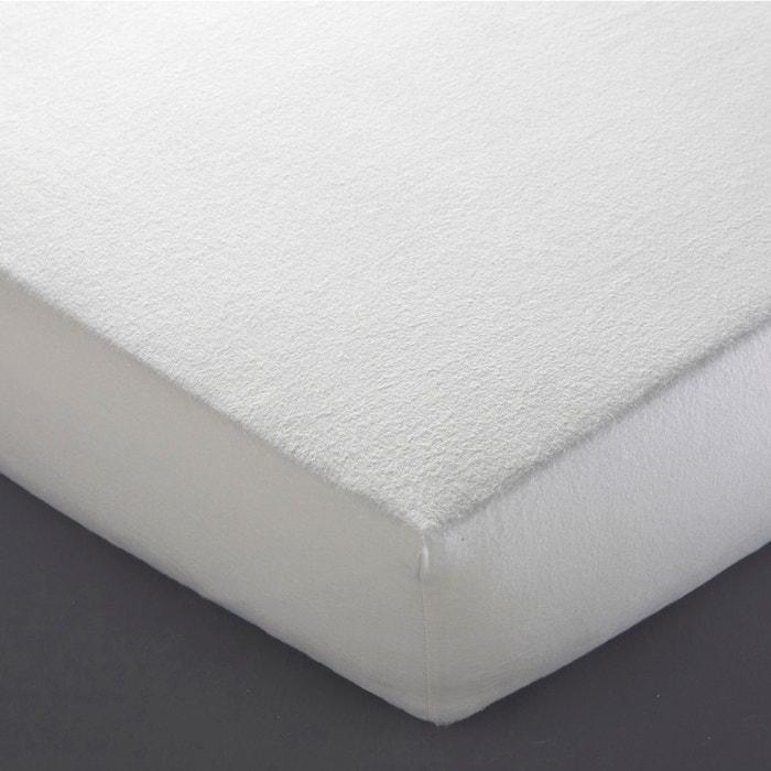 Prot ge matelas molleton anti acariens blanc la redoute interieurs la redoute - Protege matelas 90x200 ...