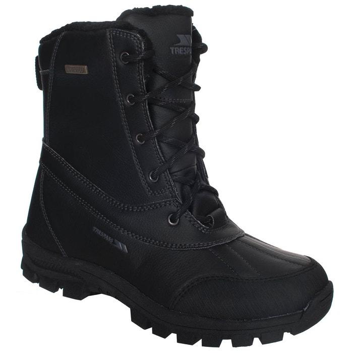Hikten bottes de neige à lacets hommes noir Trespass