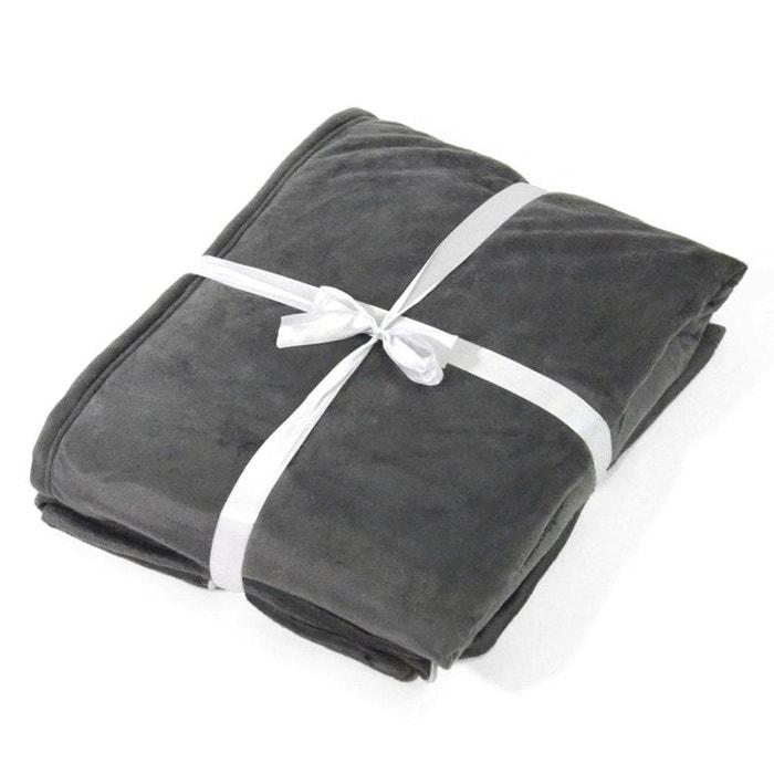 plaid grand froid uni gris home maison la redoute. Black Bedroom Furniture Sets. Home Design Ideas
