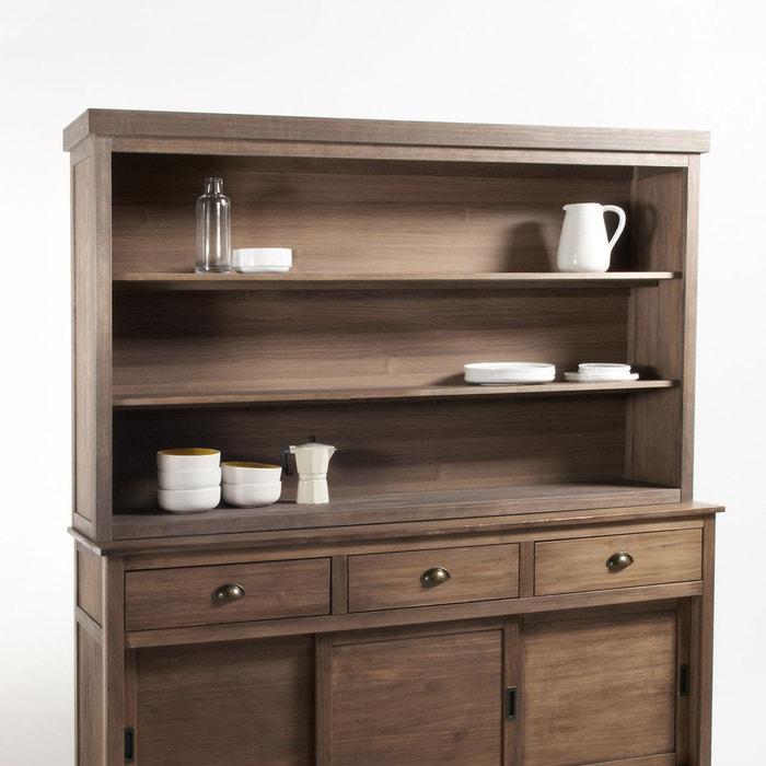 vaisselier rehausse pin massif lunja cir naturel la redoute interieurs la redoute. Black Bedroom Furniture Sets. Home Design Ideas