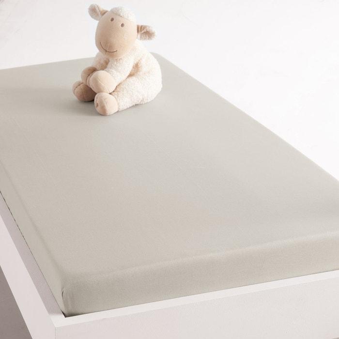 Drap housse pour lit b b en coton biologique beige for Drap housse solde