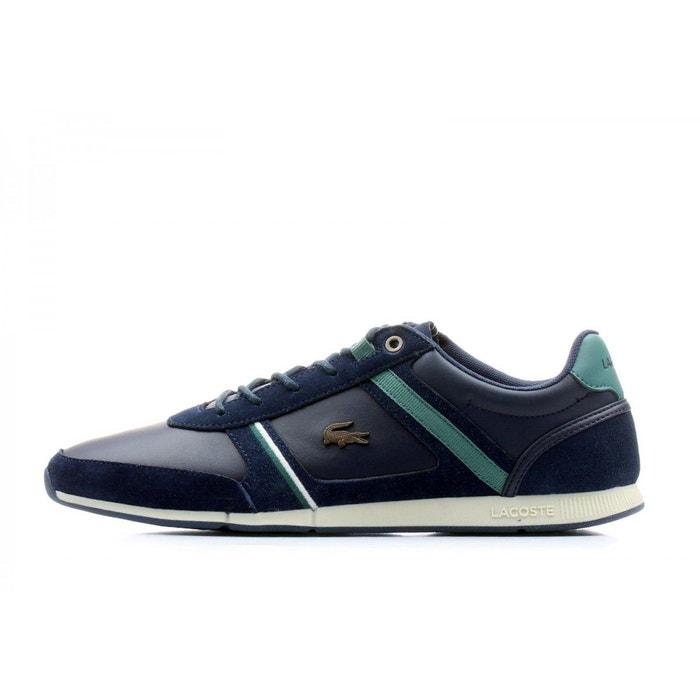 Lacoste Menerva Bleu - Chaussures Baskets basses Homme