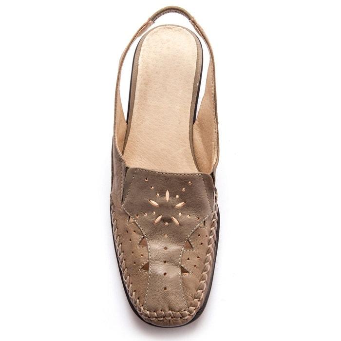Sandales ajourées, talon 5cm Pediconfort