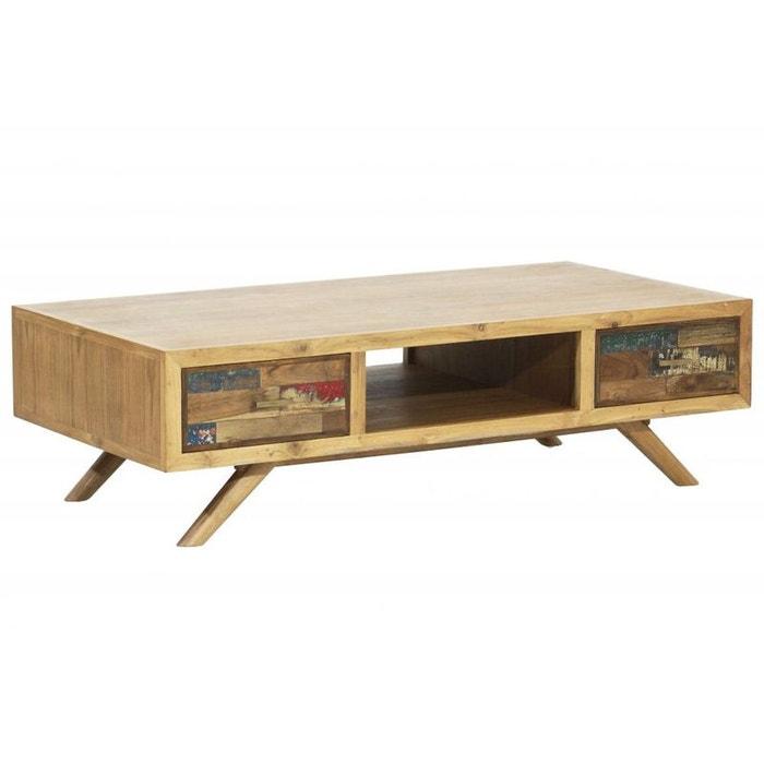 table basse teck recycl color e niche lombok bois clair. Black Bedroom Furniture Sets. Home Design Ideas