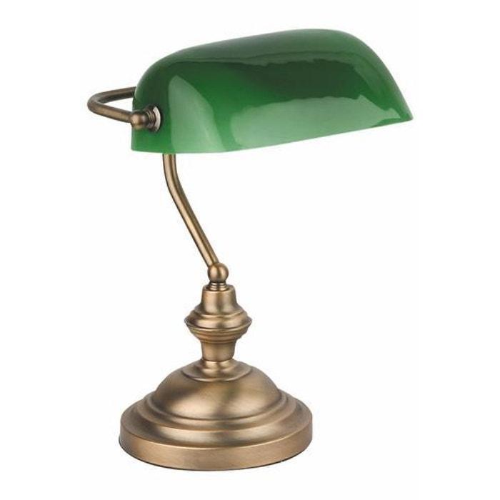 Lampe de bureau banquier bronze 60 w faro 68333 faro - Lampe de bureau massive ...