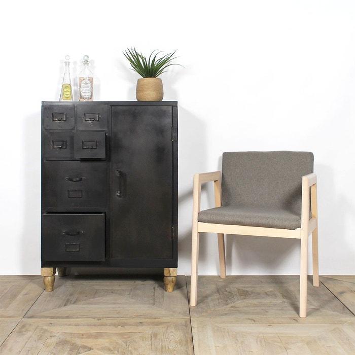 fauteuil design pieds h tre ti39c en soldes taupe made in meubles la redoute. Black Bedroom Furniture Sets. Home Design Ideas