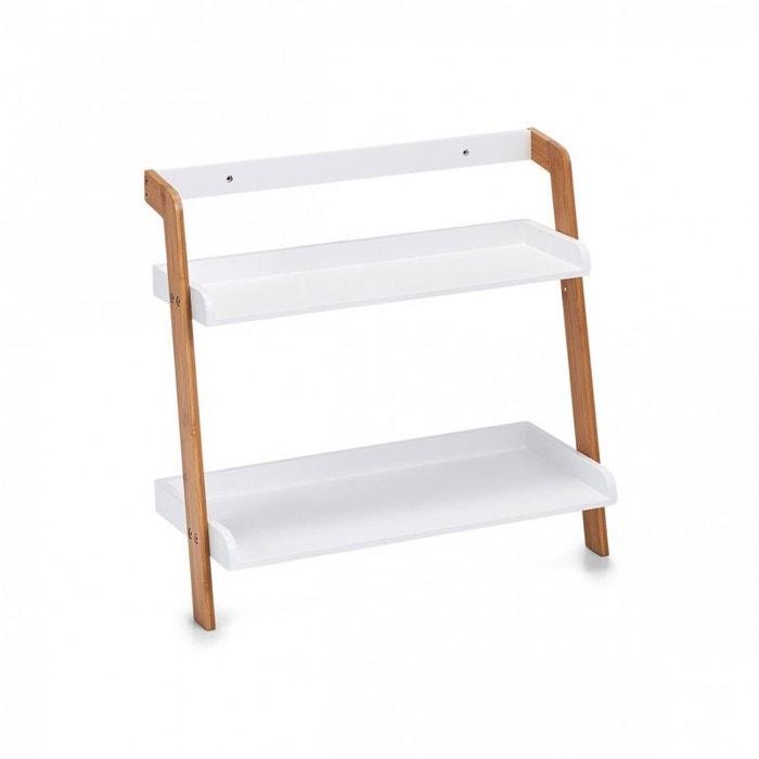 Merveilleux Petite étagère Salle De Bains Bois Bambou 2 Tablettes Blanc Zeller Present  | La Redoute