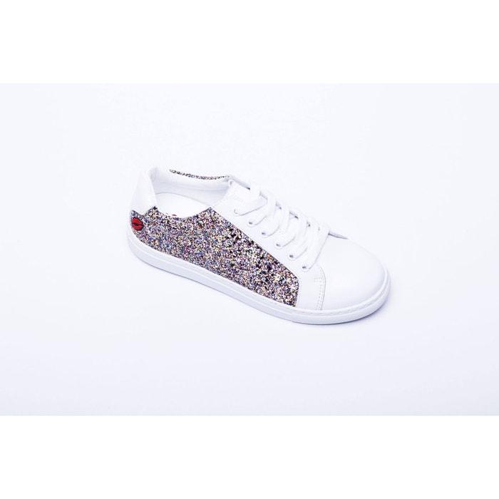 Sneakers simone glitter multico blanc Bons Baisers De Paname