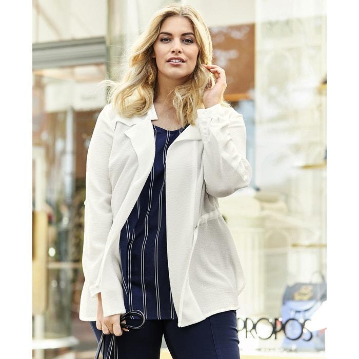 Straight Cut Jacket with Tie Waist  ULLA POPKEN image 0