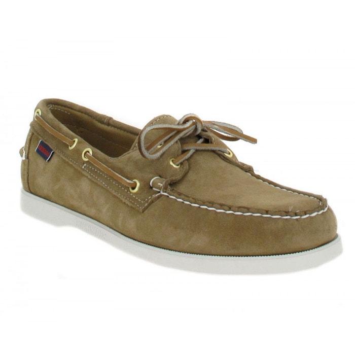 Chaussures bateaux homme sebago docksides velours homme beige beige Sebago