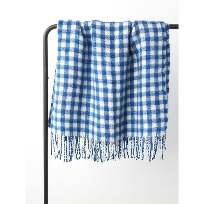 b2c285afb255 Écharpe-plaid femme carreaux vichy bleu vif Cyrillus   La Redoute