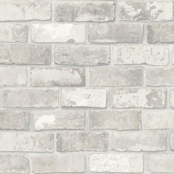 vtwonen Papier peint intissé mur de briques gris clair 10m x 52cm