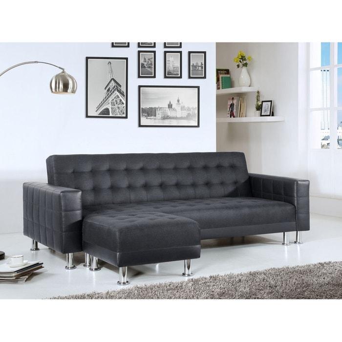 apollon noir canap convertible pouf noir concept usine la redoute. Black Bedroom Furniture Sets. Home Design Ideas