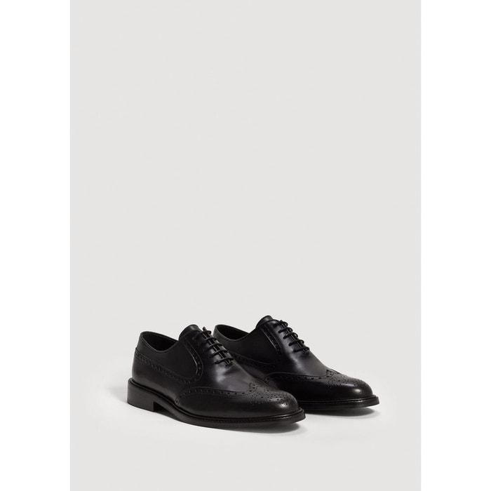 Chaussures oxford cuir noir Mango Man