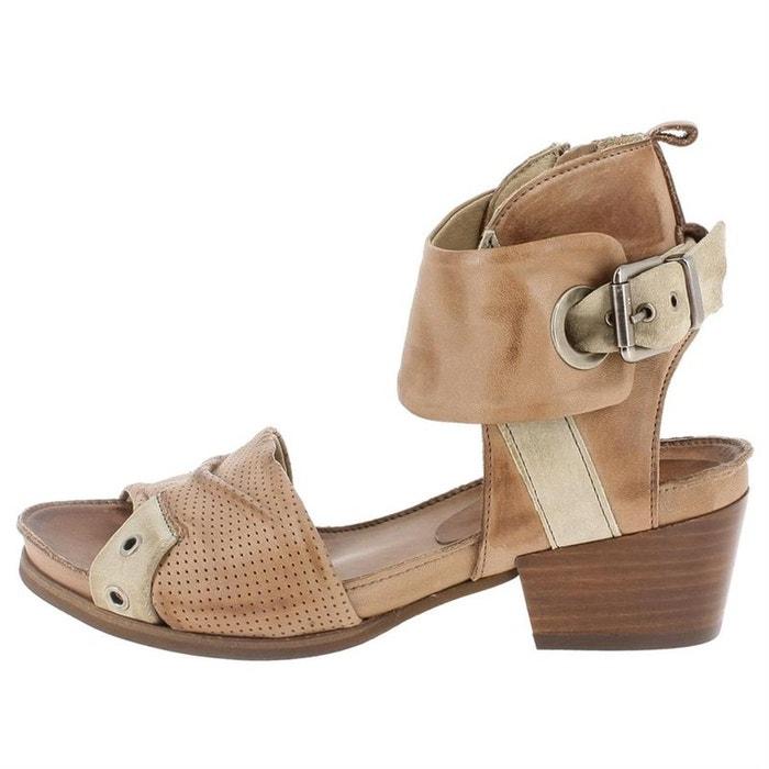 Sandales  /  nu-pieds cuir  noir Dkode  La Redoute