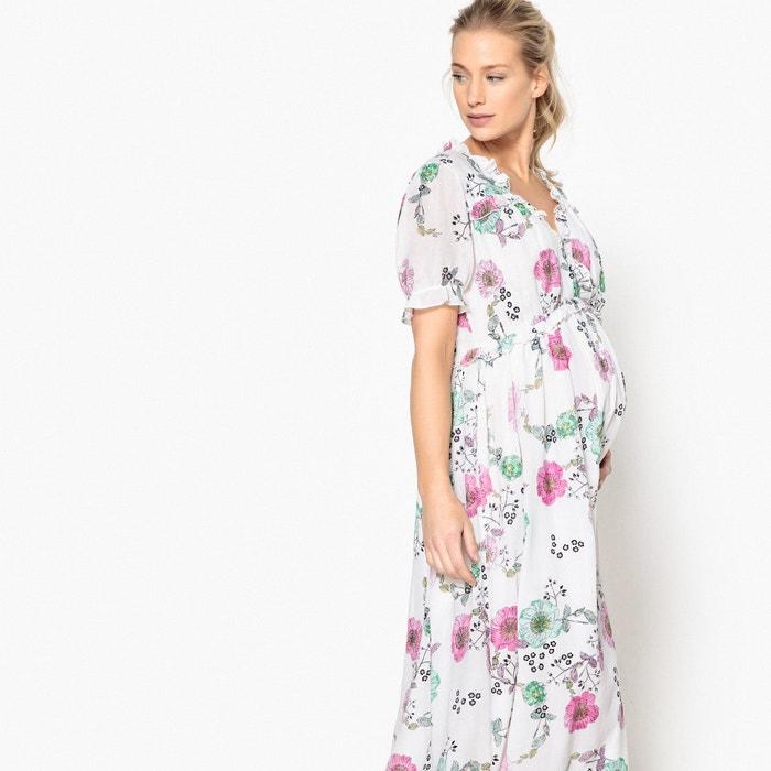 estampado de Redoute flores Collections embarazo largo de con Vestido La xFH1qR