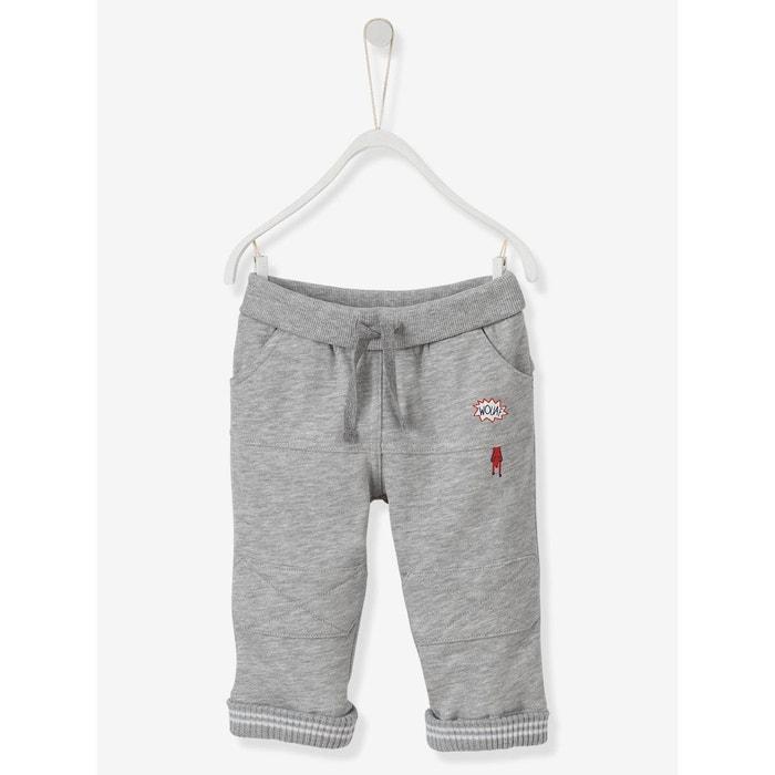 7bbc6631bf0cd Soldes VERTBAUDET Pantalon bébé garçon en molleton esprit sport ...