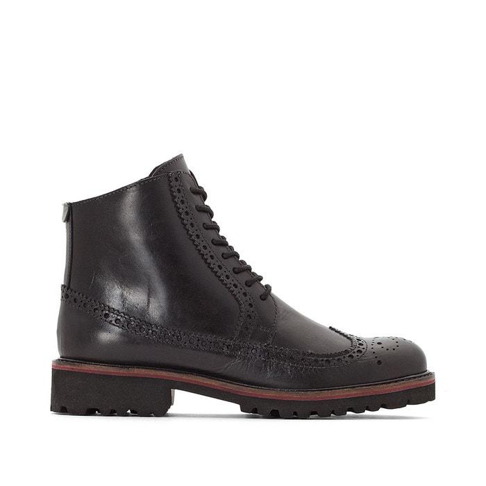 KickersLa Cuir Boots Noir Redoute Rumba EHD9I2
