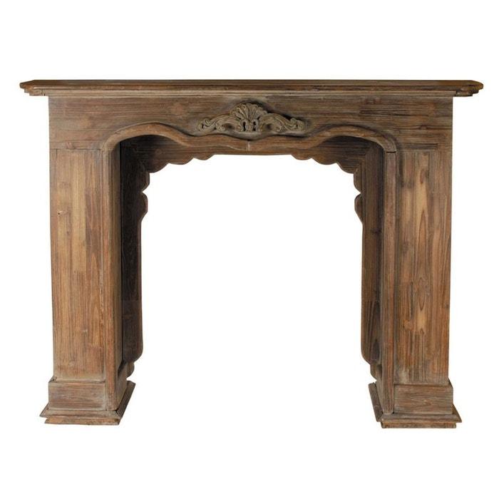 encadrement de chemin e d coratif en bois antic line cr ations la redoute. Black Bedroom Furniture Sets. Home Design Ideas