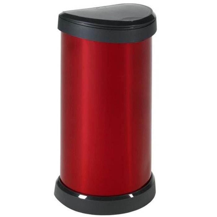 poubelle 40 litres aspect m tal touch rouge curver curver la redoute. Black Bedroom Furniture Sets. Home Design Ideas