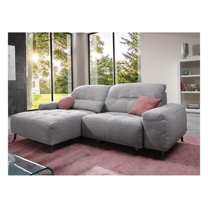 petit canap angle tissu damon slide avec chaise longue et assise motoris e gris seanroyale la. Black Bedroom Furniture Sets. Home Design Ideas
