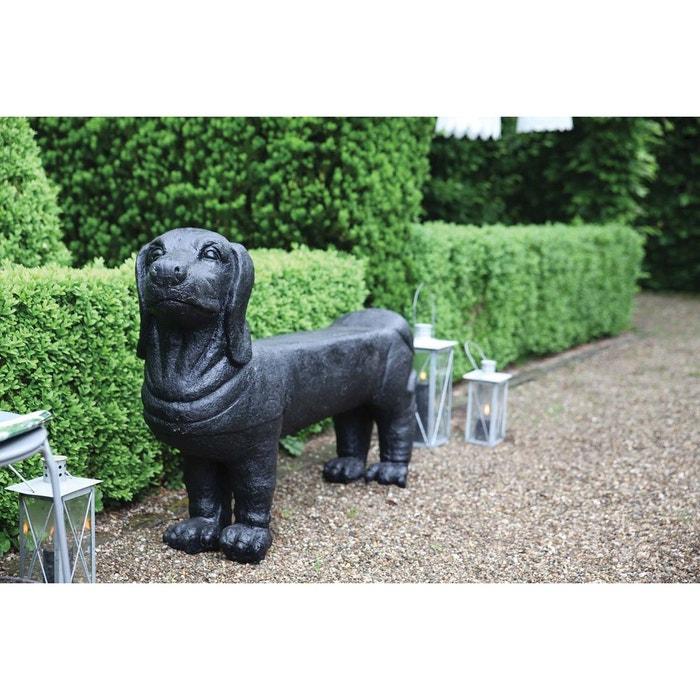 Banc De Jardin Teckel En Pierre Noir Esschert Design  La Redoute