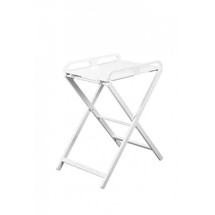 Table à Langer Pliante Jade Laqué Blanc Combelle Blanc Combelle