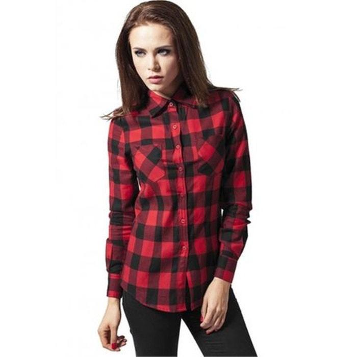 chemise carreaux flanelle rouge urban classics la redoute. Black Bedroom Furniture Sets. Home Design Ideas