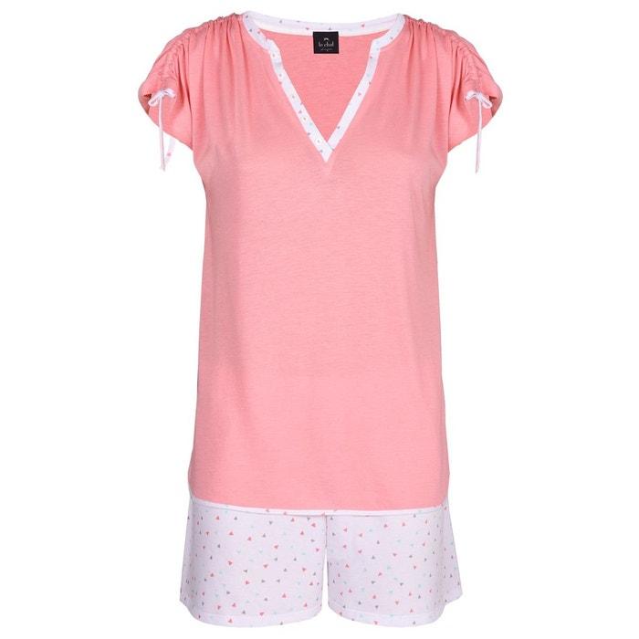 e2de1edbafcca Pyjama short 100% coton mily 400 multicolore Le Chat   La Redoute