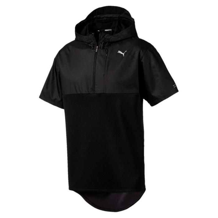 Sweat à capuche running training energy 1 4 zip à manches courtes pour homme  puma black Puma   La Redoute 8a79d23f56e3