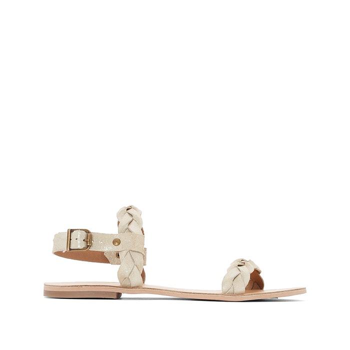 Sandales cuir brides tressées   Mademoiselle R   La Redoute