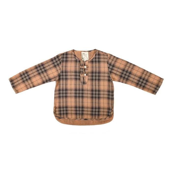 chemise liquette robinson carreaux marron marron la faute a voltaire la redoute. Black Bedroom Furniture Sets. Home Design Ideas
