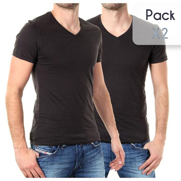 tee shirt pack col v 2 noir levi 39 s la redoute. Black Bedroom Furniture Sets. Home Design Ideas