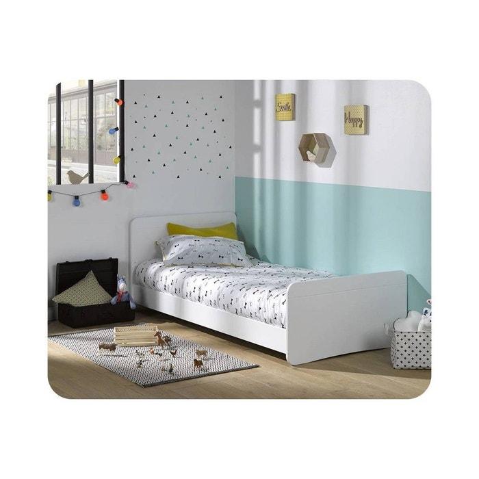 Pack lit enfant willow 90x190 cm avec sommier et matelas for Deco chambre enfant avec achat matelas latex 90x190