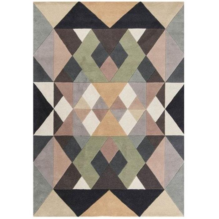 tapis d 39 int rieur en laine fait main margit multicolore. Black Bedroom Furniture Sets. Home Design Ideas