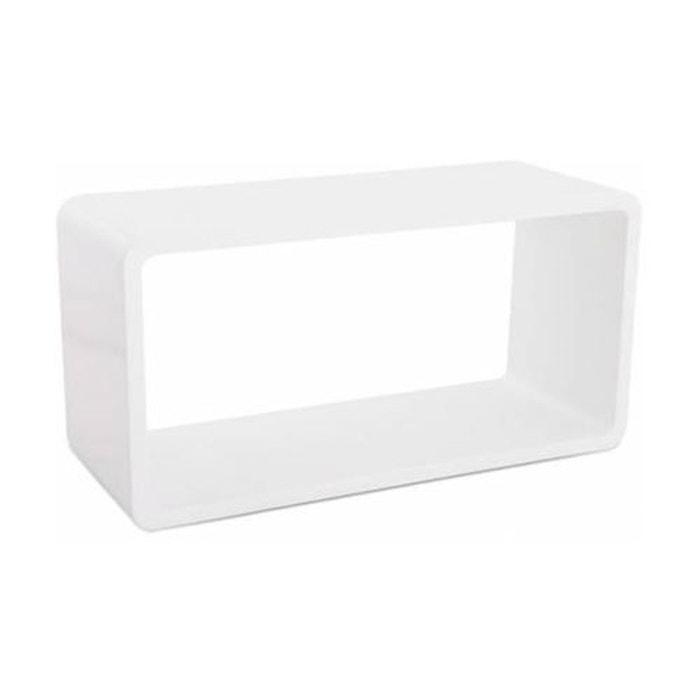 Cube de rangement blanc bois kokoon design la redoute - La redoute petit meuble de rangement ...