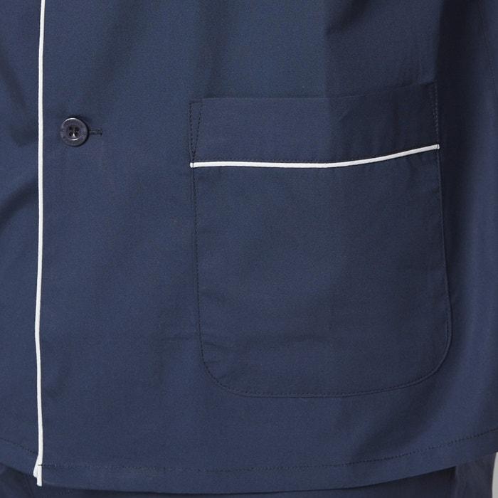 algod sastre La Collections 243;n Pijama con Redoute 100 cuello chaqueta 88YqRaw