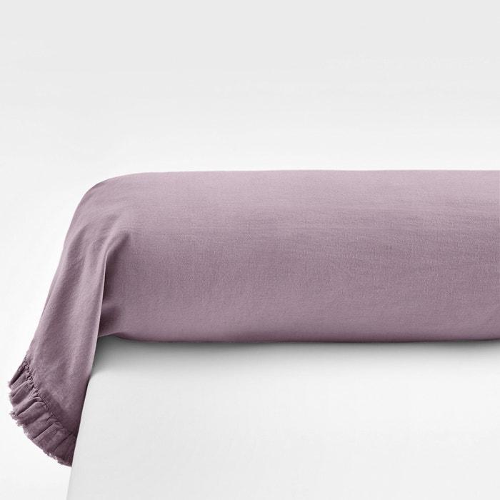 Federa per cuscino cilindrico tinta unita misto lino/cotone, NILLOW  La Redoute Interieurs image 0