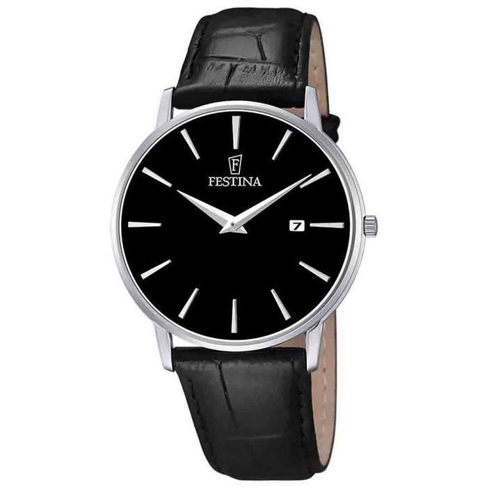 Montre en cuir noir noir Festina | La Redoute Réduction De 100% Authentique Officiel Rabais 8ex46P9