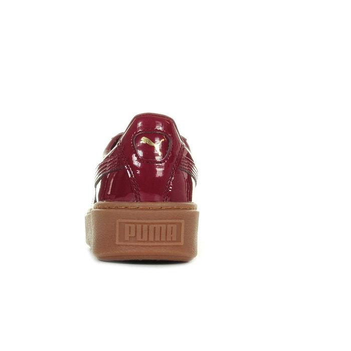 Baskets femme basket platform patent wns bordeaux Puma