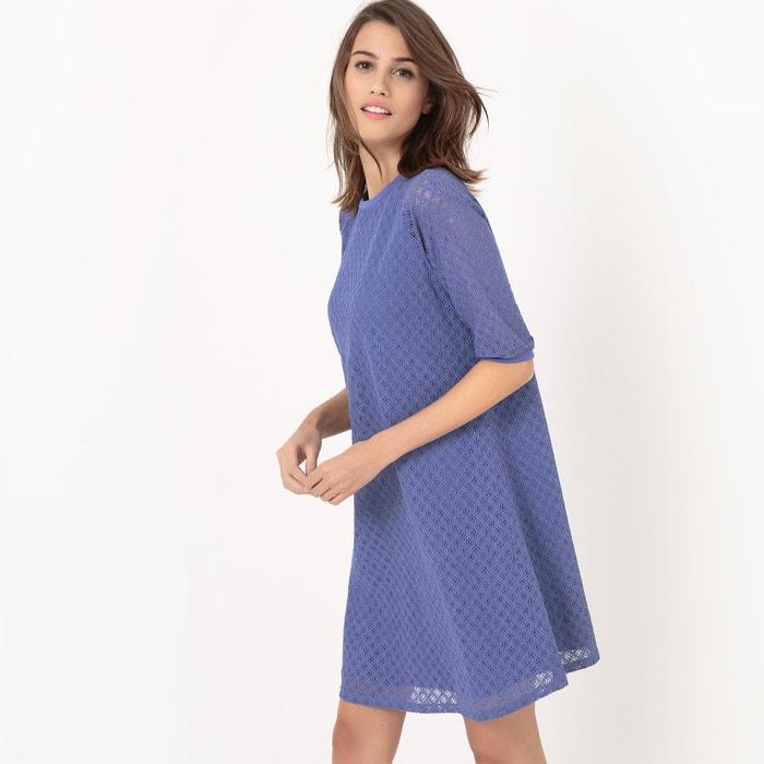 afbeelding Wijde jurk in kant La Redoute Collections